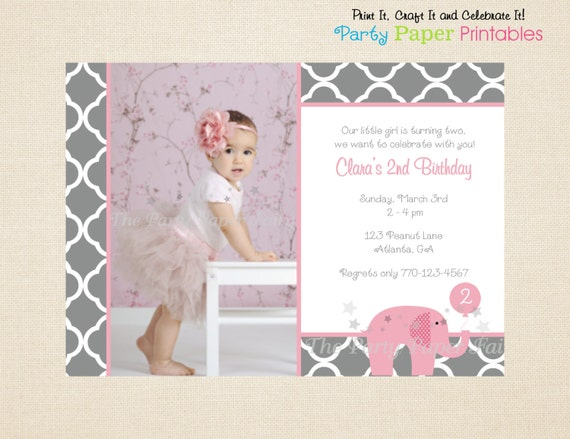 Elephant Birthday Invitations is one of our best ideas you might choose for invitation design