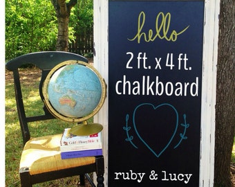 distressed 2'x4' oversized chalkboard--can be made in any size