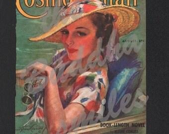 Vintage Magazine Cover - Cosmopolitan - August, 1936 Artist: Bradshaw Crandell (Cosmo017)