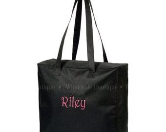 Personalized  black tote bag