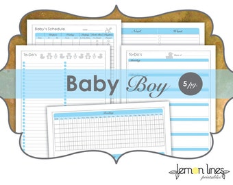 Baby Boy New Mom Printable Pack - INSTANT DOWNLOAD