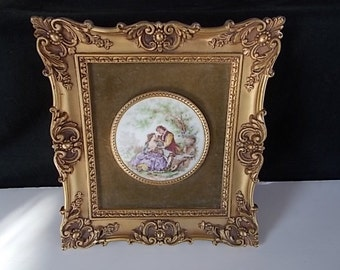 Vintage Victorian Style Frame Cameo