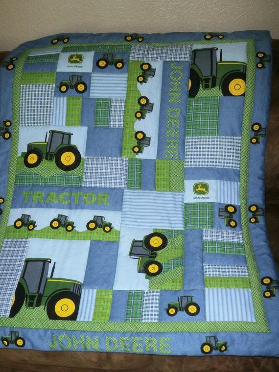 Addorable John Deere Baby Quilt Homemade