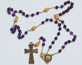 Purple and Gold Tiger Rosary