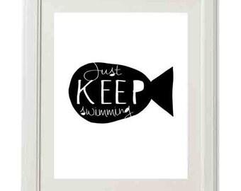 Just Keep Swimming, Fish Nursery Printable
