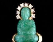 Vintage Jomaz Buddha Brooch