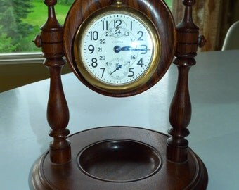 Rosewood pocket watch display