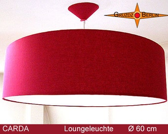 Loungelamp bordeaux CARDA Ø60 cm pendant lamp diffuser bordo red