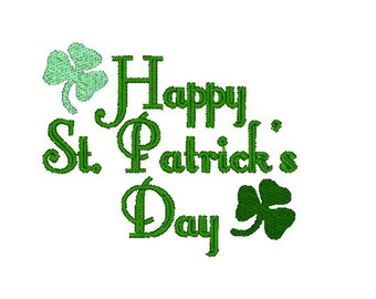 Happy St. Patrick's Day Machine Embroidery Design, Clover design, Shamrock embroidery, St. Patrick's day embroidery pattern, clover design
