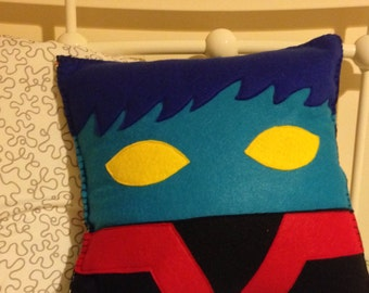 Nightcrawler themed x-men pillow.