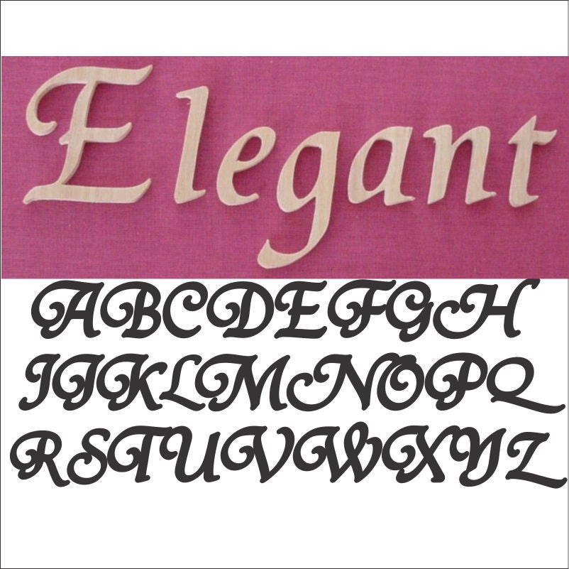Elegant Font Individual Oak Wall Letters Numbers by azwoodlady
