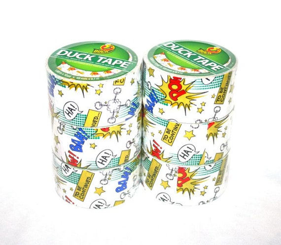 Comic Book Print Duck Brand Duct Tape