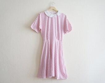 Vintage Polka Dots Dress / 1960s Vintage Dress