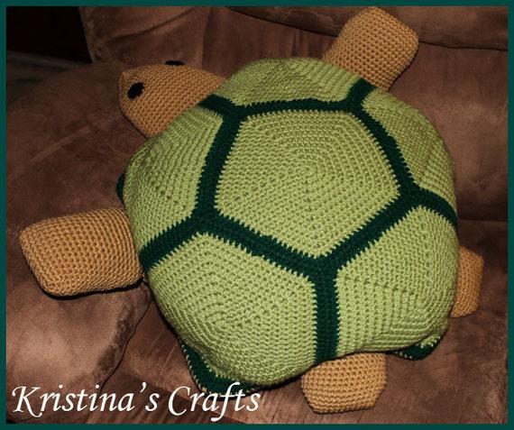 PATTERN- Turtle Pillow Crochet Pattern From