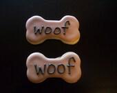 Cute dog bone sugar cookies for people!