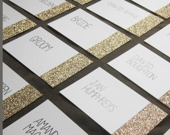 Reserved for Hanna: Glitter Dipped Place Cards