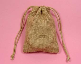 24 3x5 burlap favor bags w/ drawstring closure