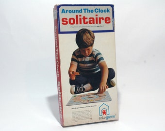 Around the Clock Solitaire Play Alone Game from Edu Game 1973 COMPLETE