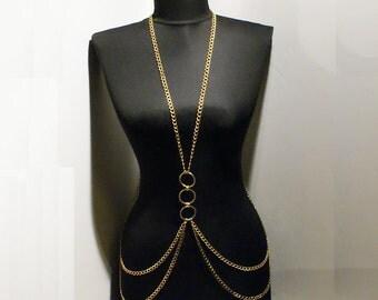body chain necklace gold body chain necklace gold harness necklace body chain harness chain necklace