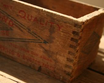 Vintage Wooden Cheese Box, Farmhouse Wooden Box, Rustic, Primitive Decor, Vintage Box