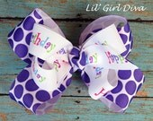 Happy Birthday Boutique Hairbow