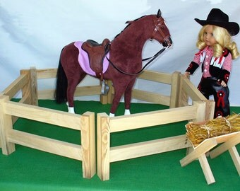 "Horse Corral for American Girl Doll / 18"" Doll Furniture - Horse Pasture"