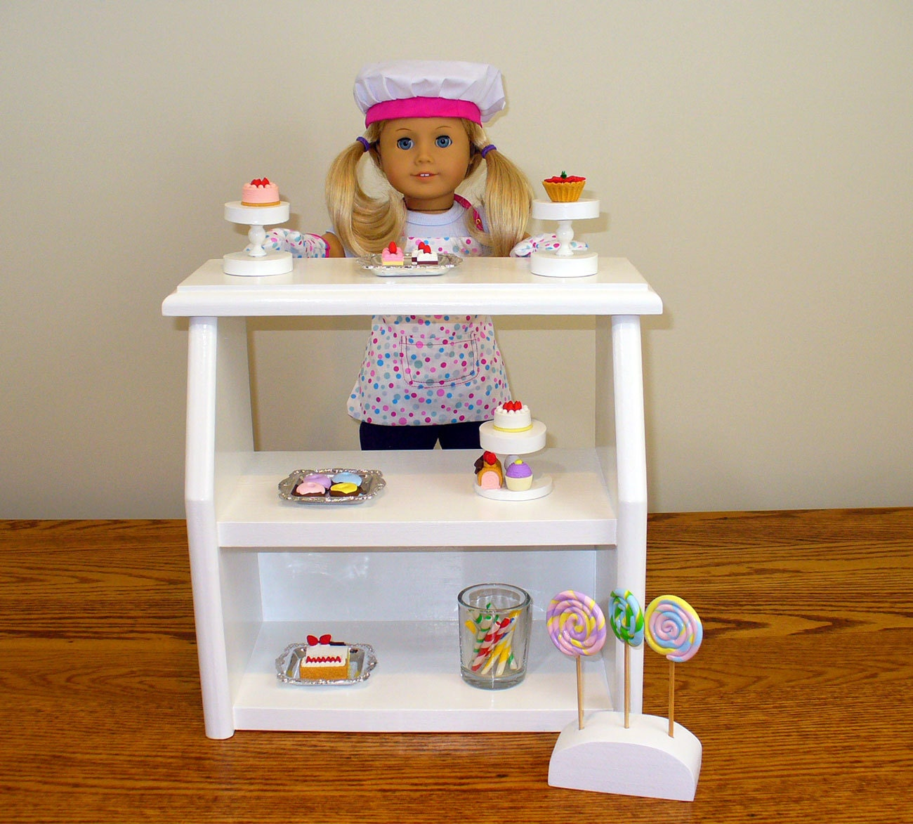 American Girl Doll Furniture Bakery Stand By Hardwoodfurniture