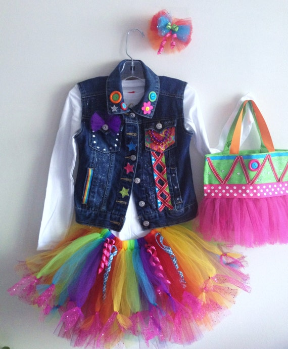 Items Similar To Girls Birthday Tutu Jean Vest Outfit Size