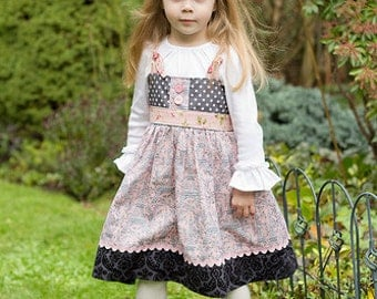 """SALE..Buy 2 get 1 free..Easy Girl's """"No Buttonhole"""" Knot Dress or Top Instant Download PDF Sewing Pattern and Tutorial, 6-12 M to 8"""