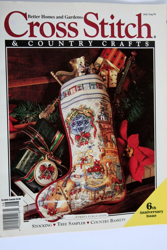 Cross Stitch Magazine Vintage 1991 With Pattern For By