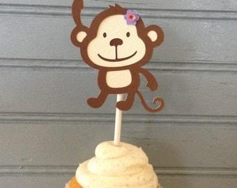 Monkey Cupcake Topper (set of 12)