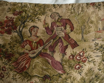 Vintage French Tapestry 10 x 12 inches