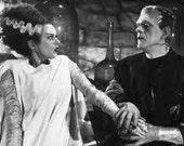 Bride of Frankenstein Cross Stitch Pattern