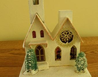 Mica Putz Christmas Church LARGE