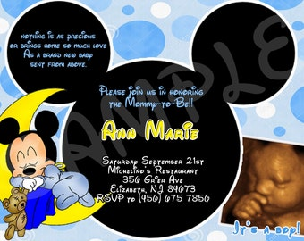 Mickey Mouse Baby Shower invitation- printable