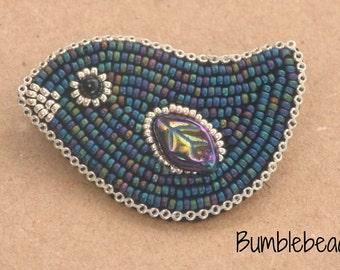 TUTORIAL: Little Bird Bead Embroidery Brooch Tutorial PDF - A Seed Bead Pattern
