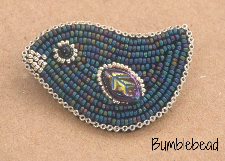 Tutorial little bird bead embroidery brooch pdf a
