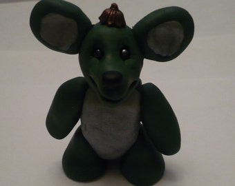Blep The Mouse - A Polymer Clay Kritter Wearing a Hat