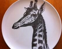 Giraffe Melamine Plate
