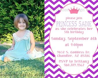 PRINTABLE Photo Invitation - Princess Party Collection - Dandelion Design Studio