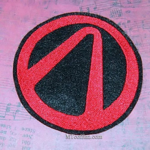 Borderlands Vault Symbol Iron On Embroidery Patch Mtcoffinz Etsy
