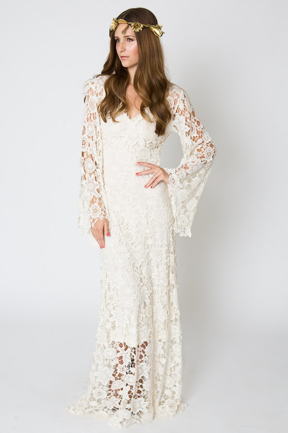 Hippie Or Bohemian Wedding Dresses Bohemian Wedding Gown