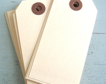 "SALE ~ 25 Medium Manila Parcel Tags 3 3/4"" x 1 7/8"" Gift Tags"