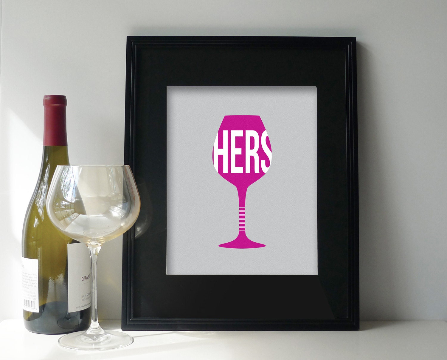 Wine glass art wine print wine poster dining room wall for Wine and dine wall art