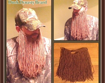 Crochet Long Duck Dynasty Beard Pattern. Toddler to Adult sizes.