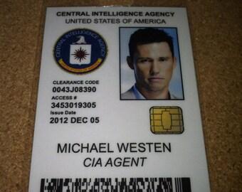 Michael Westen - CIA employee ID badge - burn notice