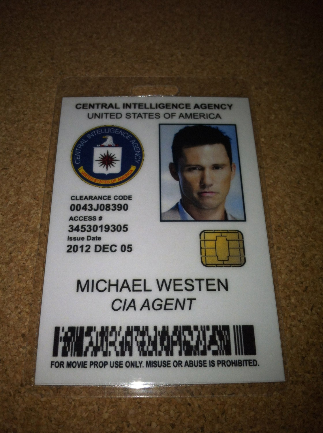Michael Westen CIA employee ID badge burn by UncleJacksDesign