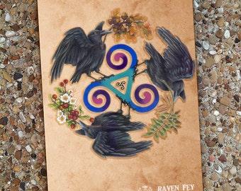 Raven Fey Blank Book Journal