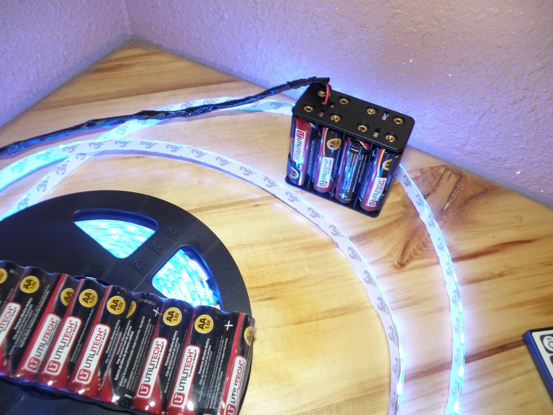 battery powered vendor led light strip kit aa 5050 music. Black Bedroom Furniture Sets. Home Design Ideas