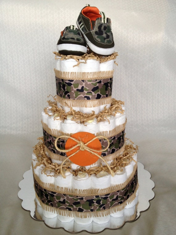 Camo Diaper Cake Decorations : Unavailable Listing on Etsy